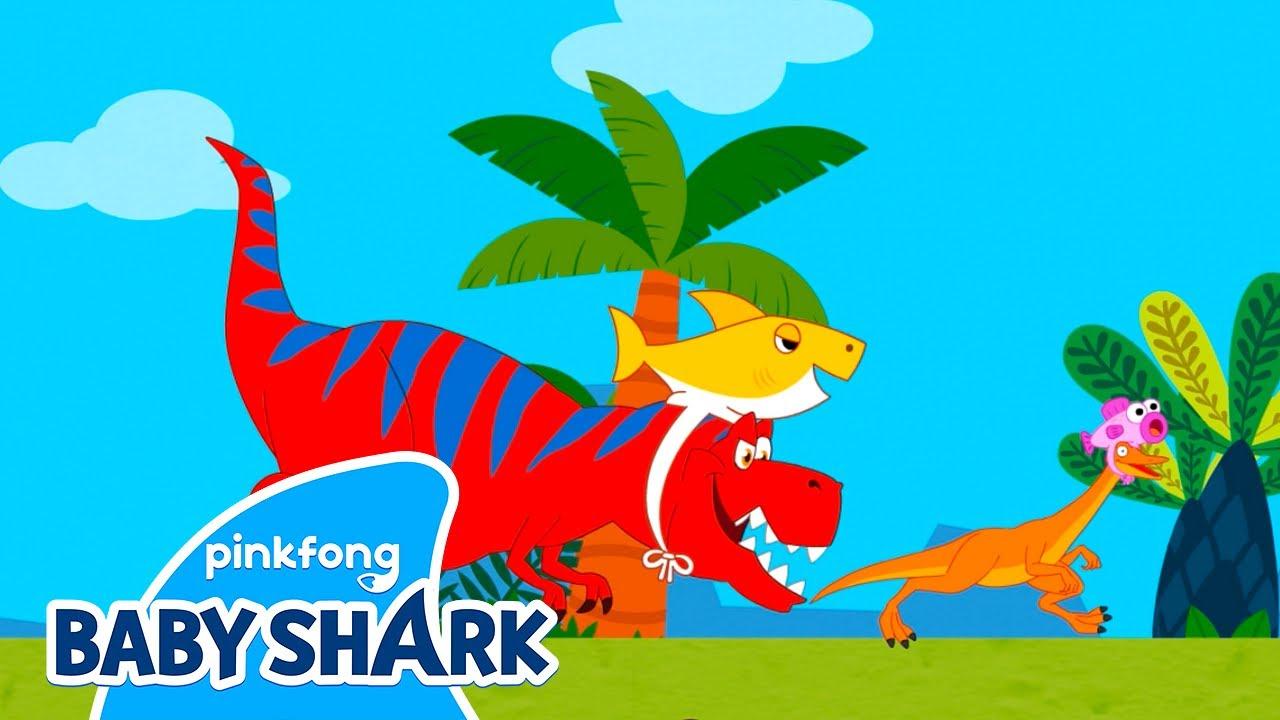 Baby Shark & Tyrannosaurus-Rex | Baby Shark Doo Doo Doo | Baby Shark Official