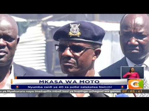 Nyumba zaidi ya 40 za polisi zateketea Nairobi