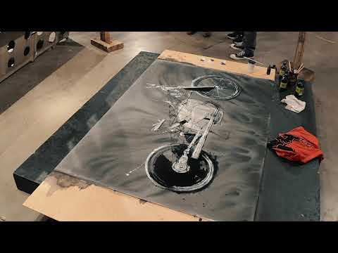 "Chopstick painting of the ""Revival Birdcage BMW"" (timelapse)"