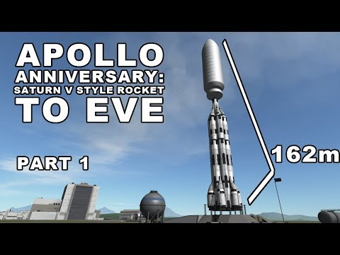 Saturn V style Rocket TO EVE - Apollo 11 49th Anniversary Part 1