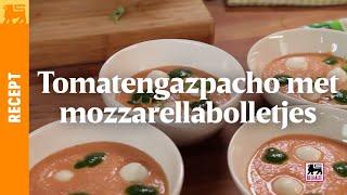 Tomatengaspacho met mozzarellabolletjes