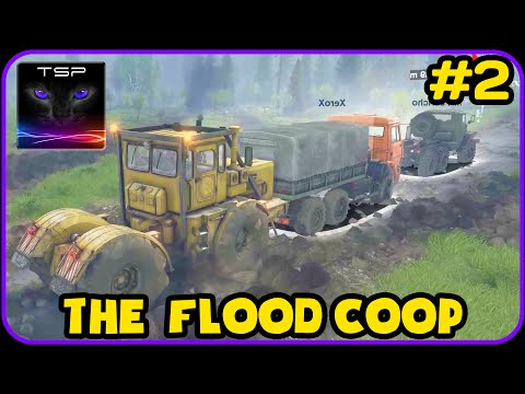 SpinTires Coop - TOWING SERVICES - The Flood Playthrough #2