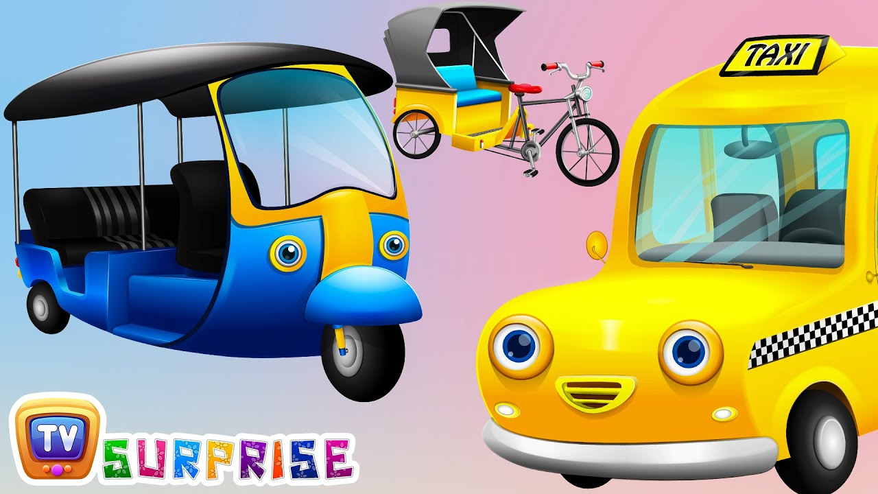 Surprise Eggs Toys – Public Transport Vehicles for Kids Part 2 | Rickshaw, Tuk Tuk & more | ChuC