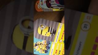 Велика розпакування 17 пачок з картками ''Гидке я 3'' із супермаркету магніт