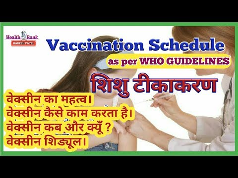 Vaccination Schedule in India as per WHO 2017   How to work Vaccine & important   In Hindi