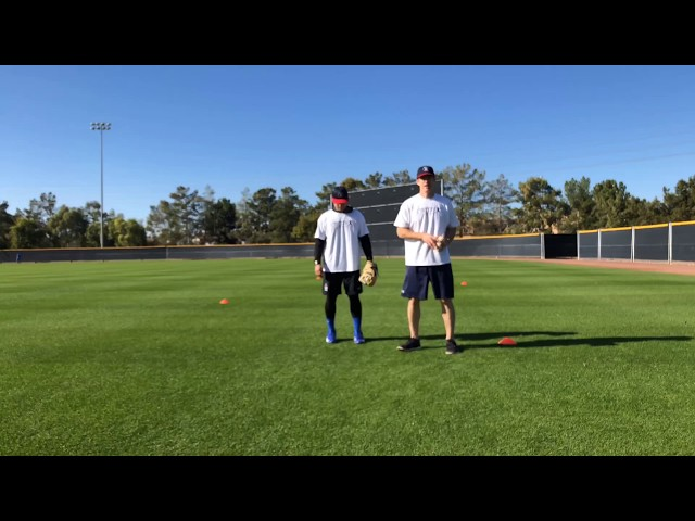 Outfield Fly Ball Angle Drill (4 cones)