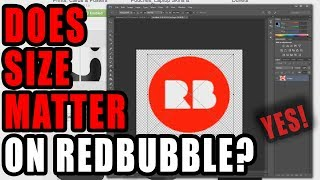 Does canvas size matter on Redbubble?