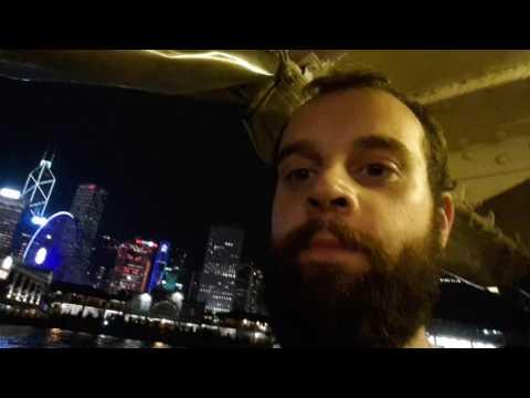 Boating across Hong Kong harbour