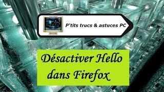 [Tuto informatique#Vidéo N°157] Désactiver Hello dans Firefox