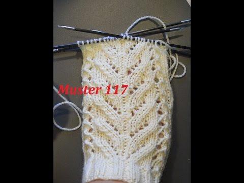 Muster 117  für Socken -Handschuhe -Mütze* Stricken mit Nadelspiel und mit Rundnadeln
