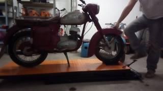 Zvedací stůl na motocykl. Homemade