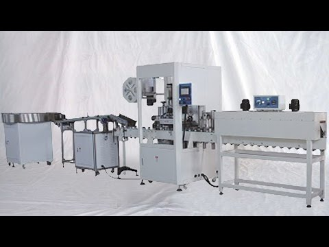 automatic-tapes-electric-insulation-arrange-feeding-shrink-sleeve-labeling-packing-line-電膠帶套標機全自動包裝線