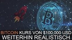 BITCOIN KURS VON $100,000 USD IST WEITERHIN REALISTISCH