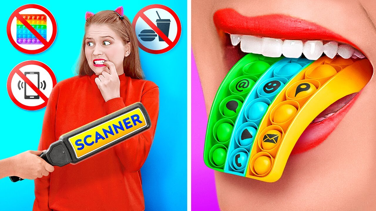WEIRD WAYS TO SNEAK MAKEUP INTO HOME JAIL    Back To School Pranks! Funny DIY Ideas By 123GO! TRENDS