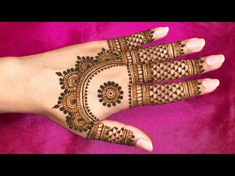 CUTE MEHNDI DESIGN FOR BACK HANDS STYLISH MEHENDI HENNA 2019