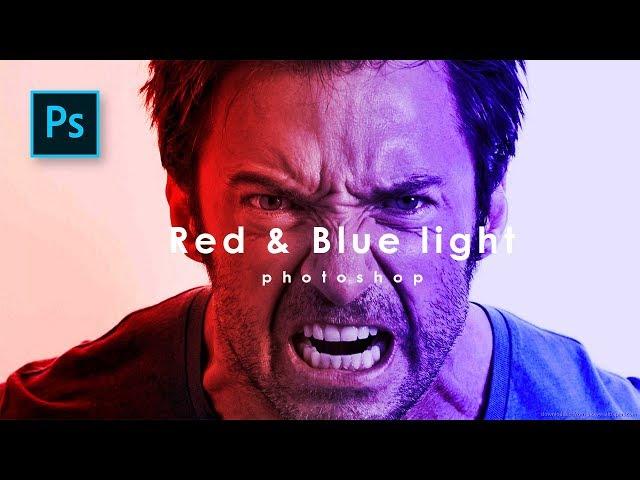 Membuat Efek Cahaya di Photoshop - Red & Blue Light Effect - Photoshop Tutorial Indonesia