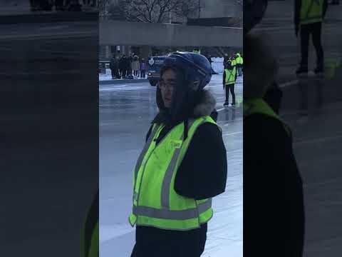 Toronto Ontario Canada Family Day Feb 18 2019 Skating at City Hall Zamboni CN Tower Old City Hall