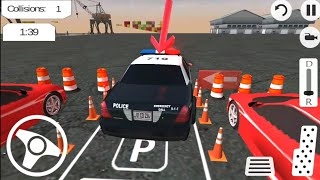Real Police Car Parking 3D Sim - Android Gameplay FHD