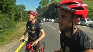 FC Nantes : montée du col de la Forclaz à vélo