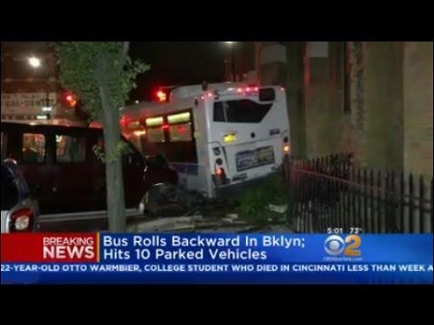Bus Rolls Backward In Brooklyn