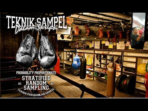 skripsi teknik sampel Probability Proportionate Stratified Random Sampling Mp3