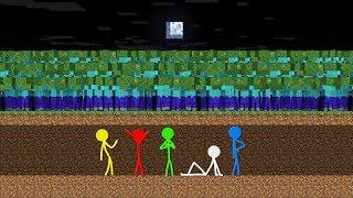 Download Stickman VS Minecraft: Zombie Apocalypse 3 - AVM Shorts Animation Mp3 and Videos