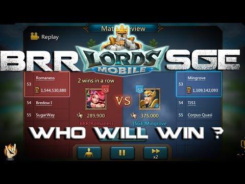 SGE VS BRR & ZU Guild Showdown Lords Mobile