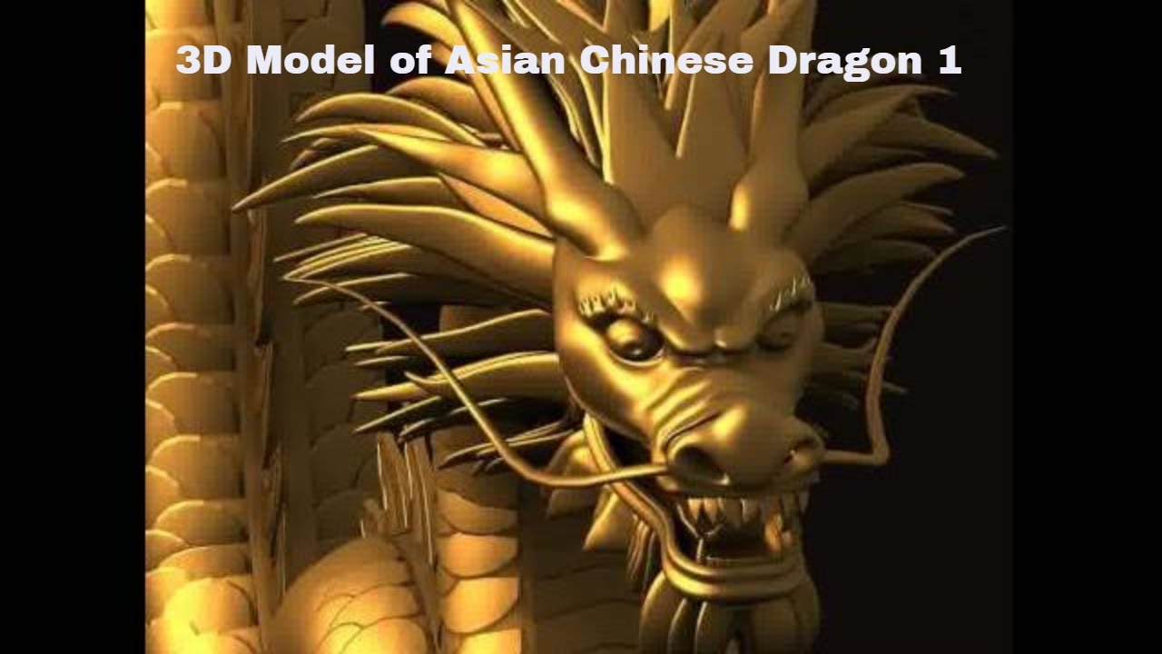 3d model of asian chinese dragon 1 review youtube