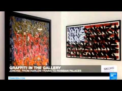 GRAFFITI IN THE GALLERY - JONONE : FROM HARLEM TRAINS TO PARISIAN PALACES - FRANCE 24