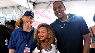 beyonce and jay z at budweisers made in america festival for her birthday weekend
