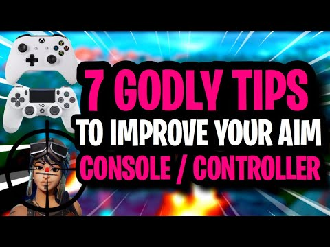 7 Advanced Tips To IMPROVE YOUR AIM On CONSOLE / CONTROLLER - Fortnite Season 9 BEST Aiming Tips
