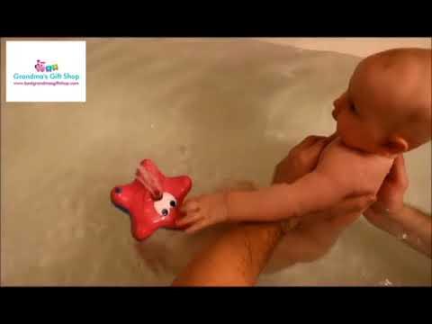 Starfish Fountain Bath Toy - YouTube