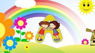 Das ABC Buchstaben lernen für Kinder. Das Alphabet in Großbuchstaben A bis Z (Deutsch)