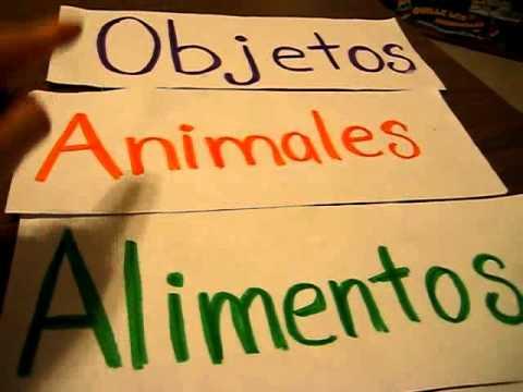 Grade 1 - Second Language Activity (Spanish: 4 Corners, 4 Topics Action Game.
