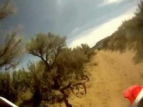 racing through wyoming dunes