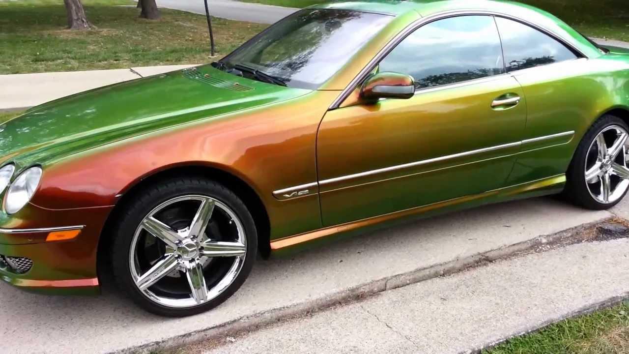 39 01 mercedes benz cl600 v12 amg w kameleon paint doovi for 2002 mercedes benz s600 v12 for sale