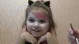 «Маленькая Лера» Как нарисовать на лице кошку    Аквагрим(Аквагрим нравится многим детям. Мы покажем, как нарисовать на лице кошку. Из этого видео вы узнаете об акваг..., 2017-03-01T19:09:08.000Z)