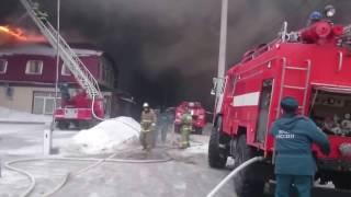 Орел пожар горит АТОЛЛ.Пожар в атоле,вид с завода,пожар орел