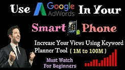 How to use Google Adwords Keyword Planner tool In your phone ? [ HINDI ]
