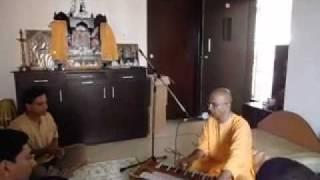 Bal Govind Prabhu singing Hare Krishna Mahamantra