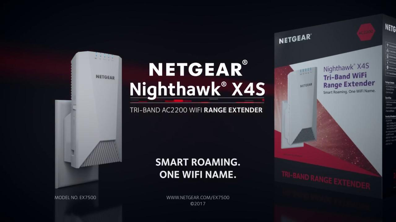 Netgear NightHawk EX7500 AC2200 TriBand WiFi Range Extender