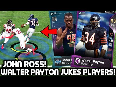 WALTER PAYTON JUKES PLAYERS! JOHN ROSS FASTEST PLAYER IN THE NFL! Madden 19 Ultimate Team