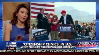 Latinos Naturalizing to Vote Against Trump and Consulates Hosting Clinics | Lili Gil on Fox News