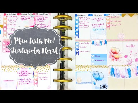 Plan With Me! | Happy Planner | Watercolor Floral Layout!