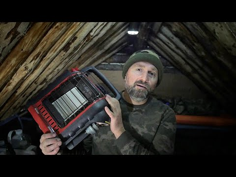 Living In A Winter Survival Shelter - Buddy Heater & Carbon Monoxide