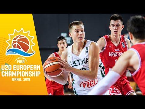 Croatia V Lithuania - Full Game - FIBA U20 European Championship 2019