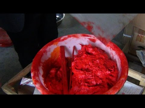 What the Traditional Red Seal Ink Paste is Made of? a tour in China with Victoria and Henry Li