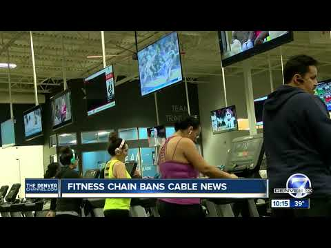 Fitness chain bans cable news