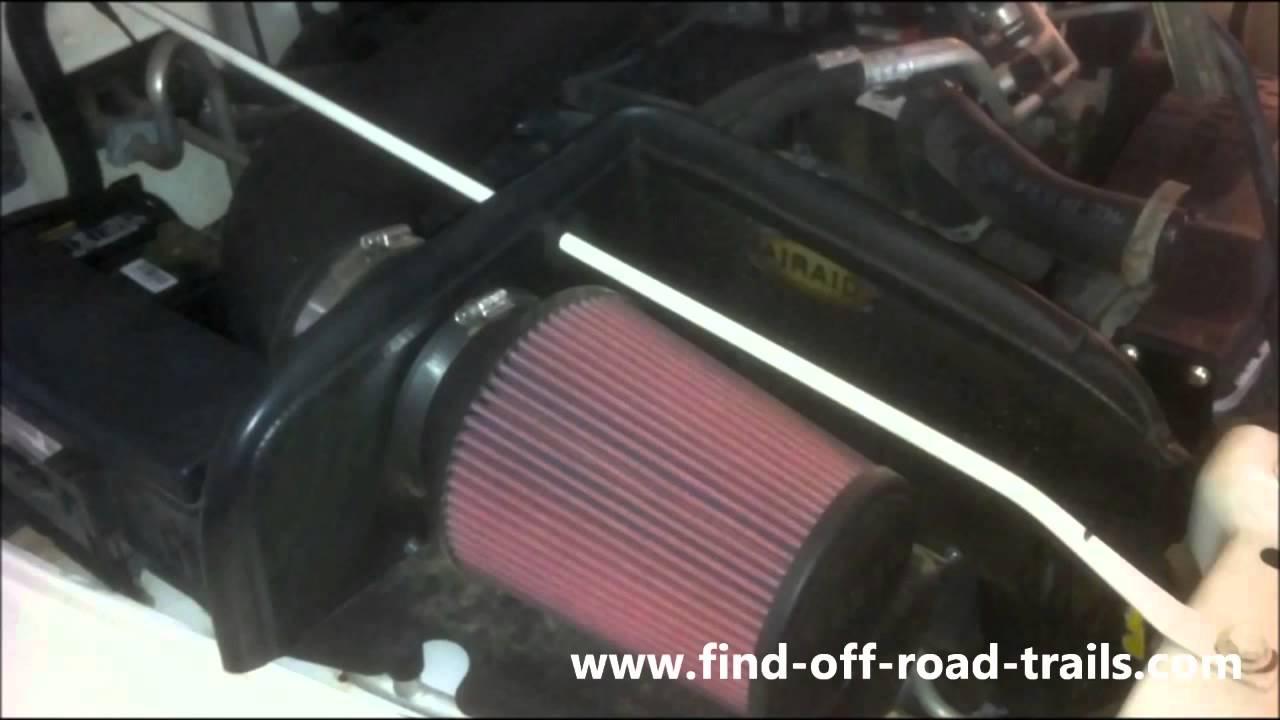 Fan Spacer Cold Air Intake : Jeep wrangler airaid cold air intake poweraid throttle