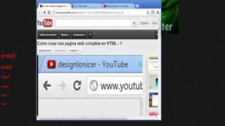 Como crear una pagina web completa en HTML -2